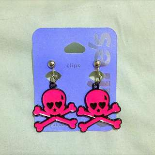 """Pink Skull Earrings """"Claire's"""""""