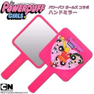🚚 The Powerpuff Girls 飛天小女警 手拿鏡 化妝鏡 隨身鏡 手柄化妝鏡 飛天小女警鏡子 粉紅小鏡