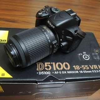 【出售】Nikon D5100 數位單眼相機 國祥公司貨 9成新(快門數只有4千而已)