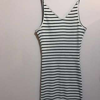 Stripey Midi Dress