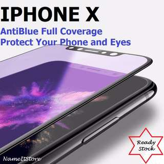 iPhone X Screen Protector Tempered Glass Anti Blue