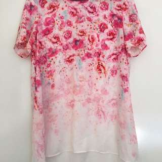 Forever New Floral Top Sz 10