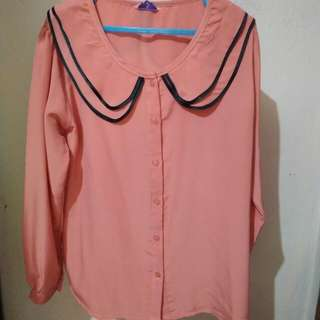 Blouse wanita salem/peach/pink