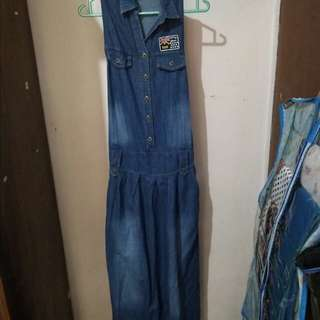 Jumpsuit dress wanita