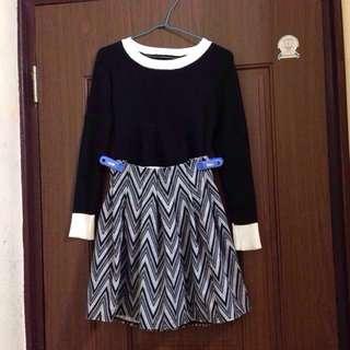 針織上衣+裙子