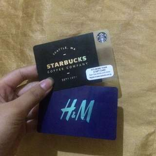 H&M & Starbucks Card 💖