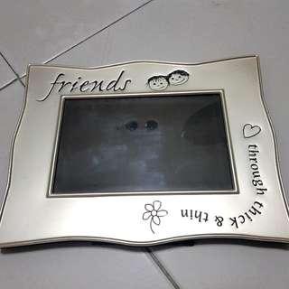 Photo frame silver friends