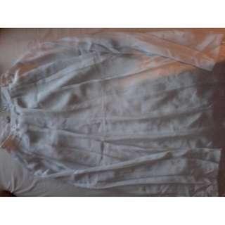 Rok putih panjang seragam