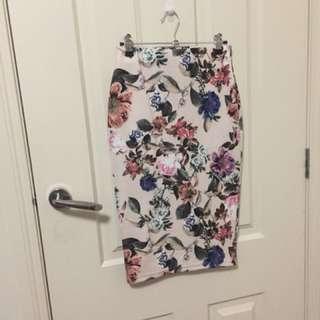 Tokito Floral Midi Skirt