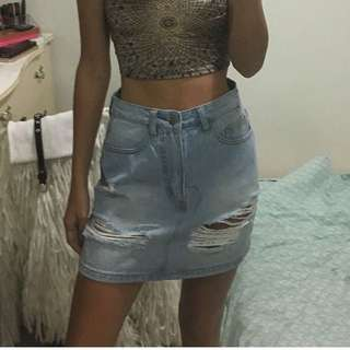 Size 6 denim skirt