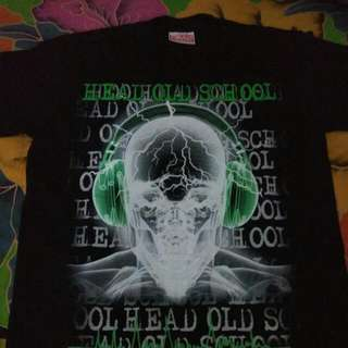 Kaos Import Bangkok Glow In Dari Merk Header Old School