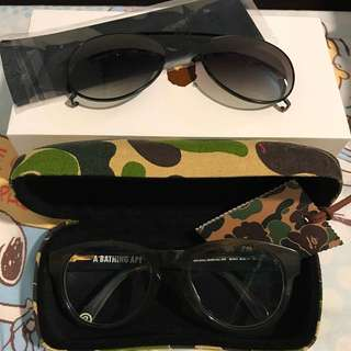 Bathing Ape glasses BS13014 with clip