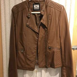 ⤵️ Brown Leather Jacket (marked down!)