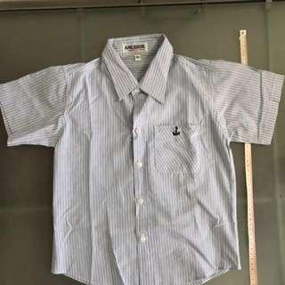 Children Blue stripe shirt
