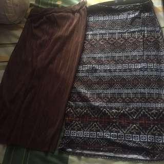 midi skirt Zara & new look