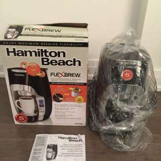 Hamilton beach flexbrew coffeemaker - (like new condition)