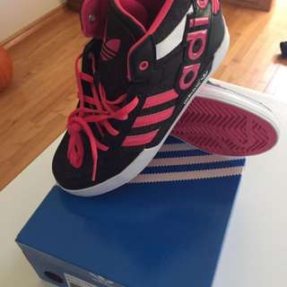 Girls size 3 pink Adidas shoes
