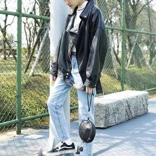 Oversize皮衣