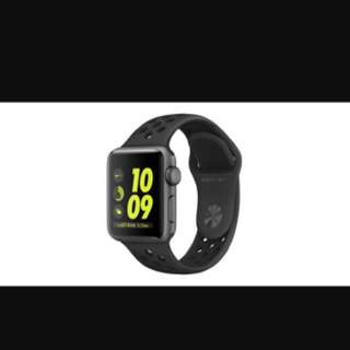 Apple Watch Nike + GPS 38mm grey Aluminum Case With Black Anthracite/ black Sports Band