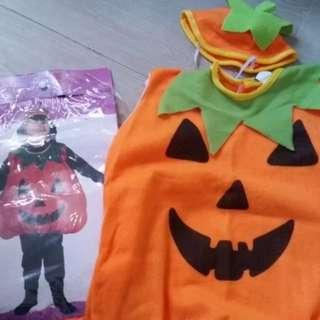 Baby Kids Halloween Pumpkin Costumes(小朋友南瓜衫/萬聖節/Cosplay/Party之選)(送圖4小禮物)