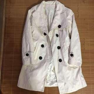 #11flashsale 中長度米白色外套 Beige midi Coat