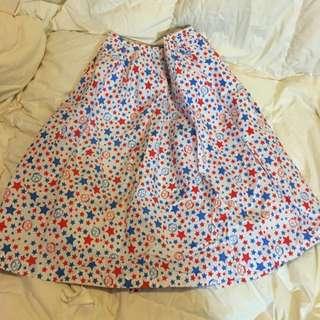 #11flashsale 大口仔星星圖案中長半截裙 Minna No tabo Midi Skirt