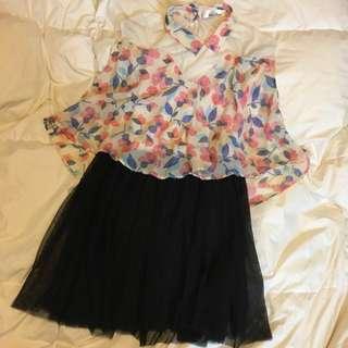 #11flashsale 可愛清純碎花連身紗裙 Adorable Floral One Piece