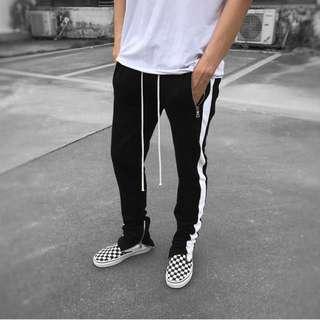 Black with white sidetape