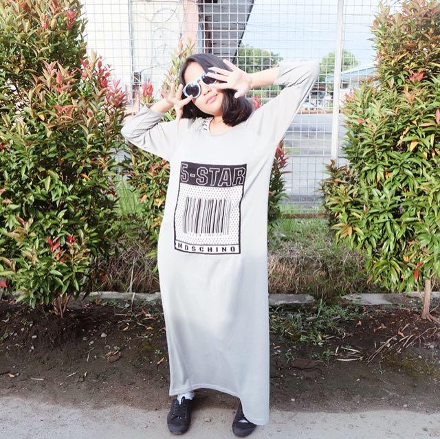 5 STAR GREY LONG DRESS