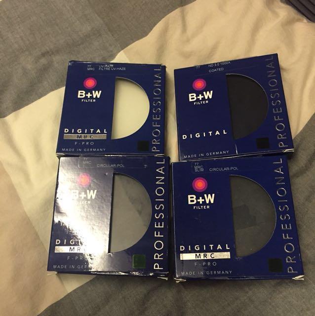 77mm B+W filters