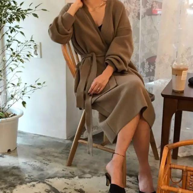 超美的優雅氣質開衫外套+半身裙套裝