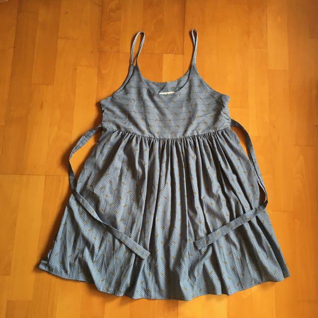 細肩帶洋裝 / 灰藍