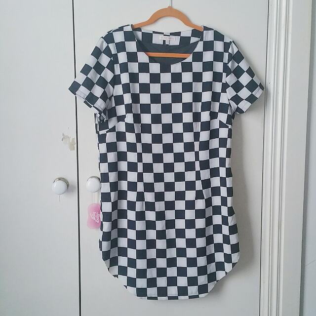 🏁 CHECKERBOARD DRESS 🏁