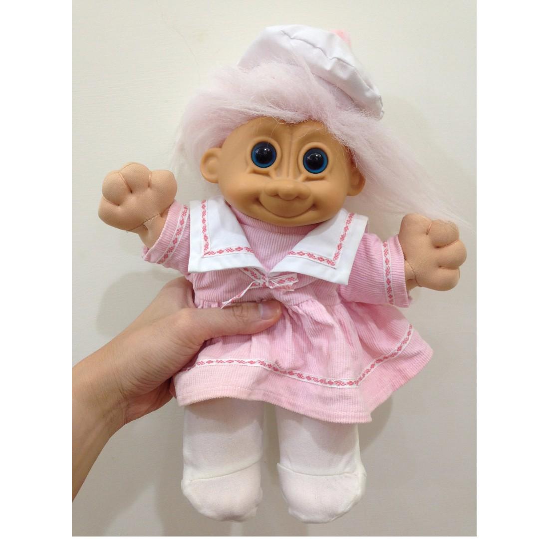 幸運小子 (牛奶氣質娃兒)醜娃、巨魔娃娃、醜妞、Troll Doll、魔髮精靈
