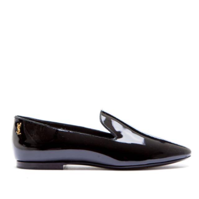 正品 YSL 漆皮 loafer 平底鞋 37.5 全新 *Saint Laurent