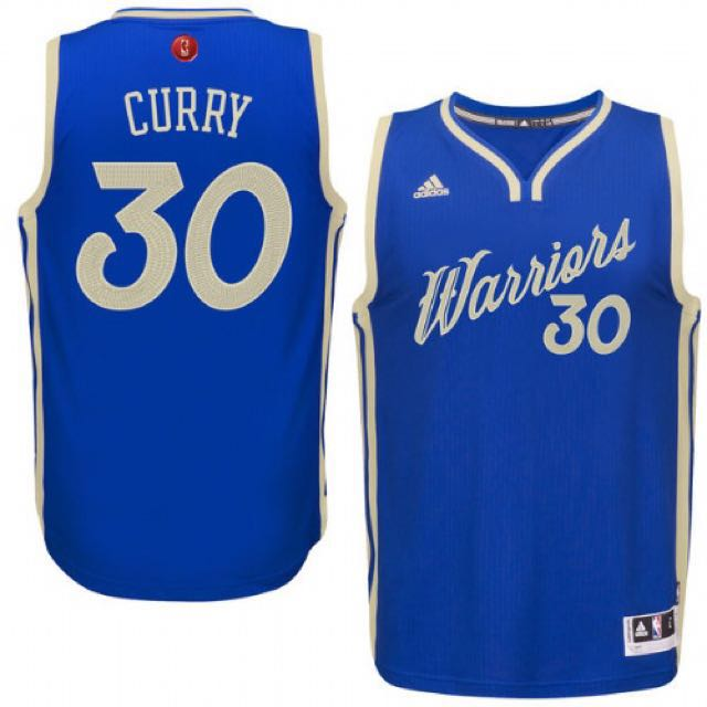 Adidas NBA 2015限量 勇士 Stephen Curry 聖誕節球衣 全新含吊