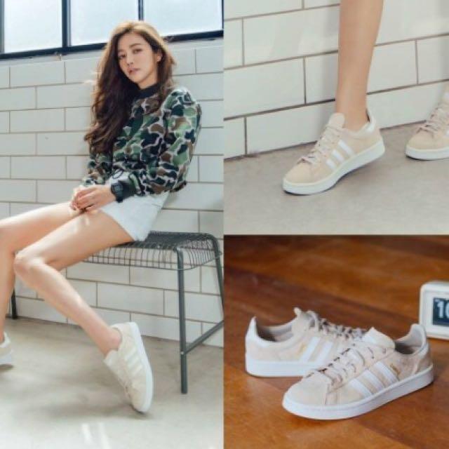 adidas originals Campus 奶茶色 許路兒款 女鞋 BY9846