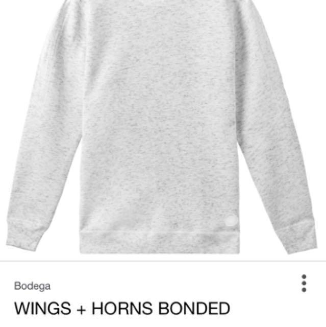 Adidas Originals x Wings and Horns Grey Crewneck