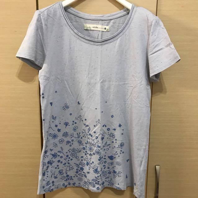 alasha 淺藍T-shirt