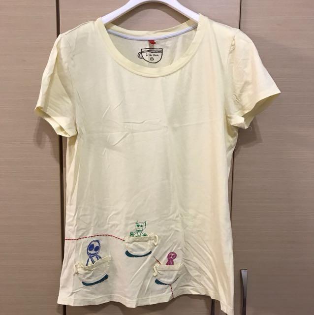 alasha 淺黃T-shirt
