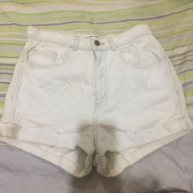 American Apparel Highwaisted Cuff Shorts