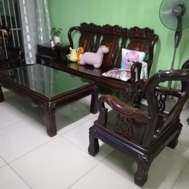 Antique Chinese Wooden Furniture Set