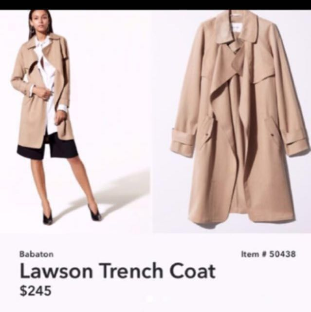 Aritzia Lawson trench coat xxs 10/10 condition