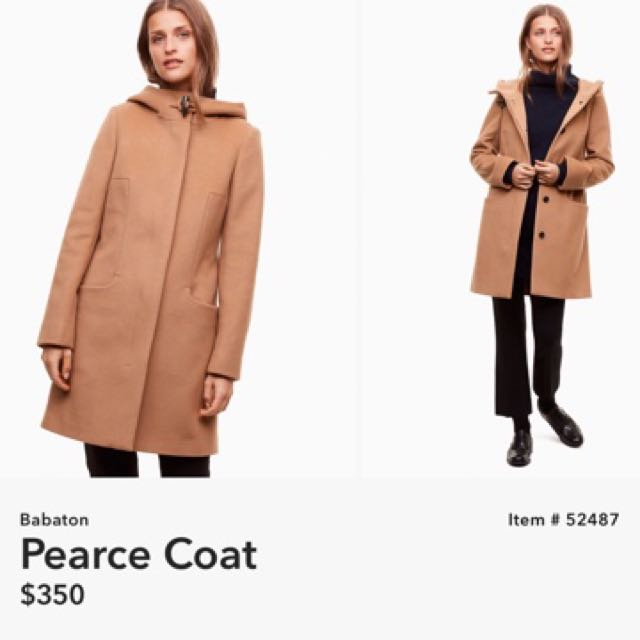 Aritzia Pearce coat NAVY BLUE XS