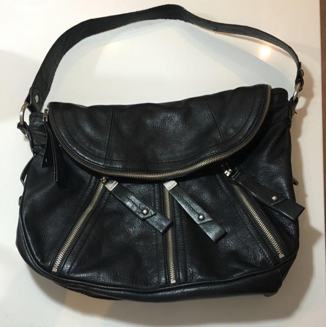 B Makowsky Leather Shoulder Purse