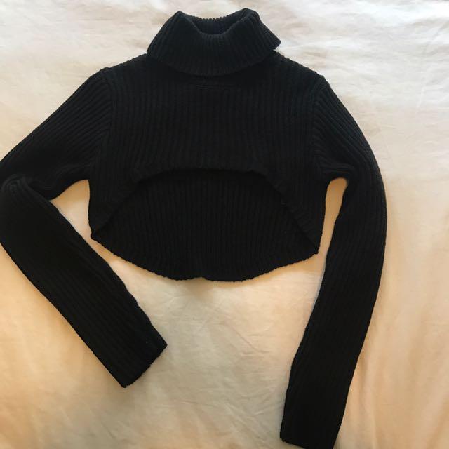 Bardot mega cropped knit jumper