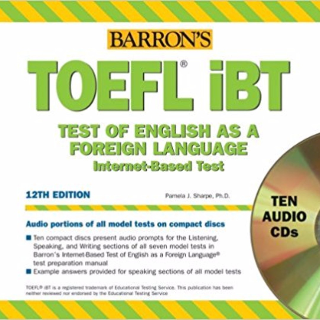 Barrons toefl ibt 12th edition cd textbooks on carousell photo photo photo fandeluxe Choice Image