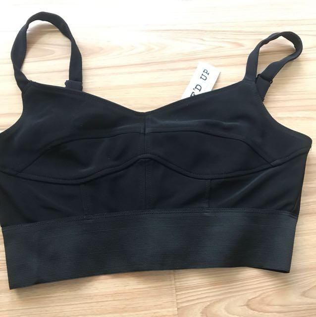 Black bralette/ crop top