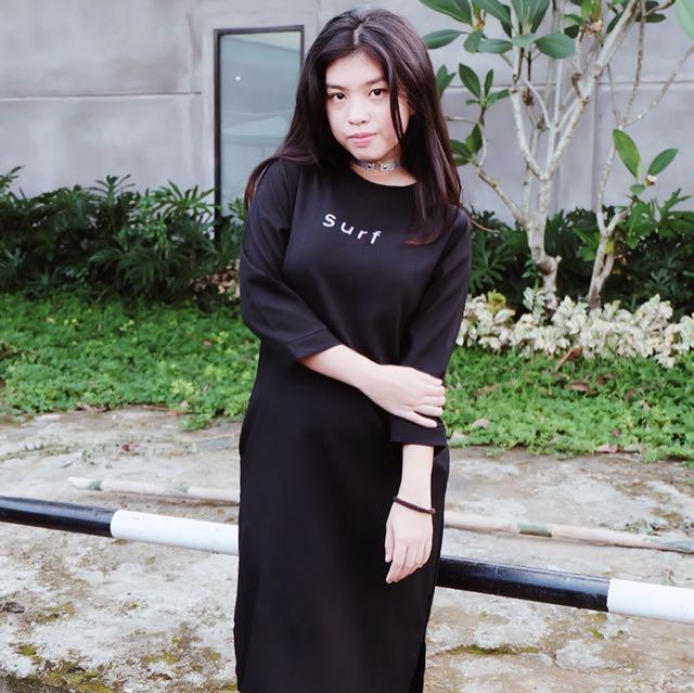 BLACK SURF DRESS
