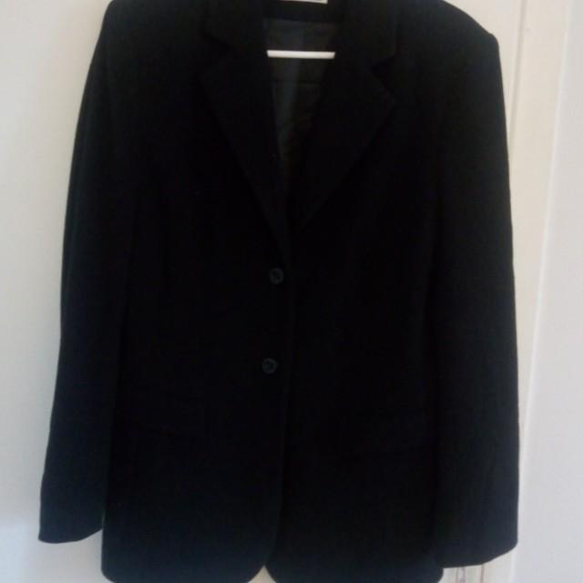 Black wool coat / blazer, size M (6)